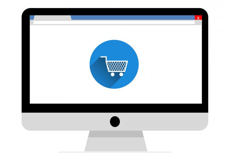 icoon beeldscherm webwinkel
